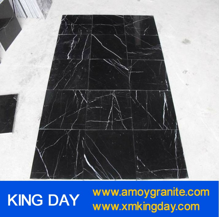 Black With White Marble Slabs Nero Marquina Manufacturers